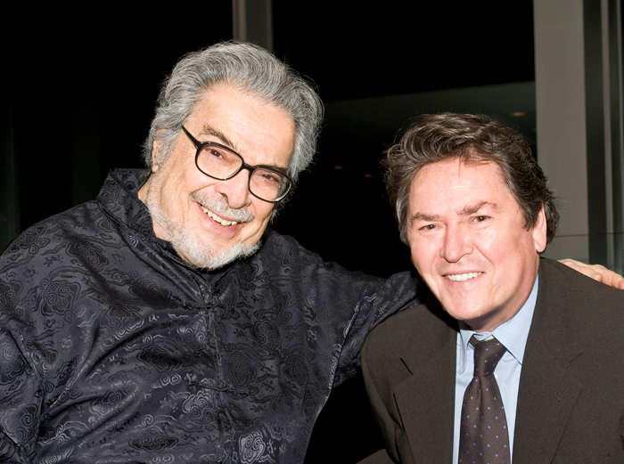 Leon Fleisher with Dr. Peter Simon.