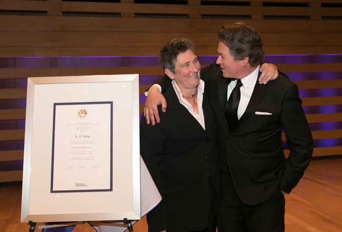 Dr. Peter Simon with singer k.d. lang
