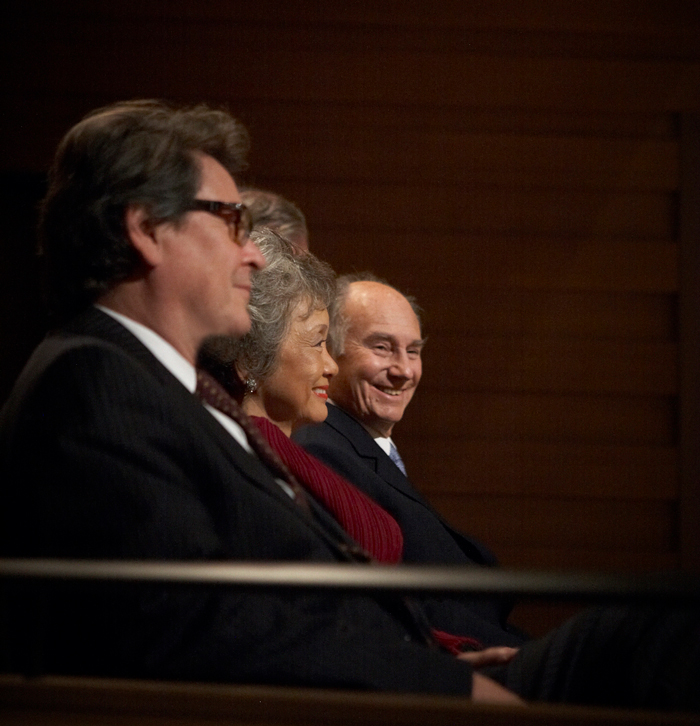 Dr. Peter Simon, The Right Honourable Adrienne Clarkson, and His Royal Highness The Aga Khan.