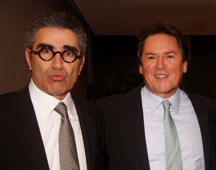 Eugene Levy with Dr. Peter Simon.