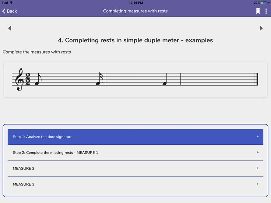 Completing measures with rests