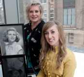 Noreen Wensley with her daughter Karen and a photo of her mother Betty