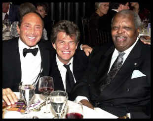 Paul Anka with Royal Conservatory alumni David Foster and the late Oscar Peterson