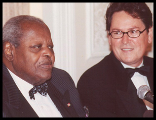 The late Oscar Peterson with Dr. Peter Simon