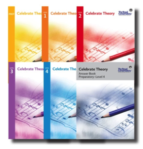 Celebrate Theory Book Covers Elementary Levels