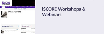 iSCORE Workshops and Webinars