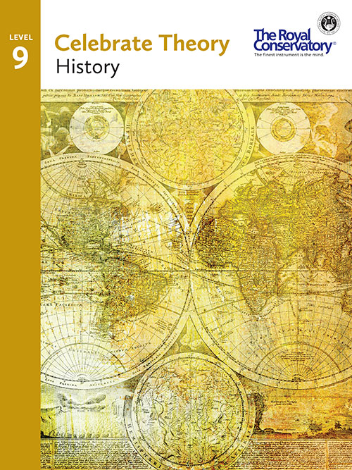 Celebrate Theory Level 9 History cover - RCM Theory 2016