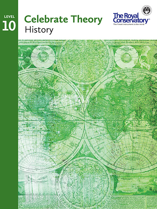 Celebrate Theory Level 10 History Cover - RCM Theory 2016