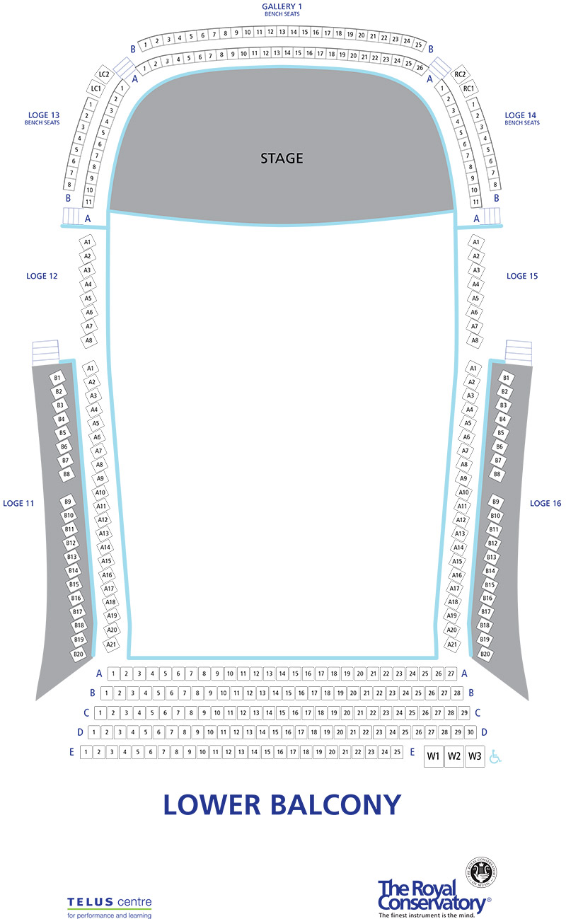 Koerner Hall Seating Chart - Lower Balcony