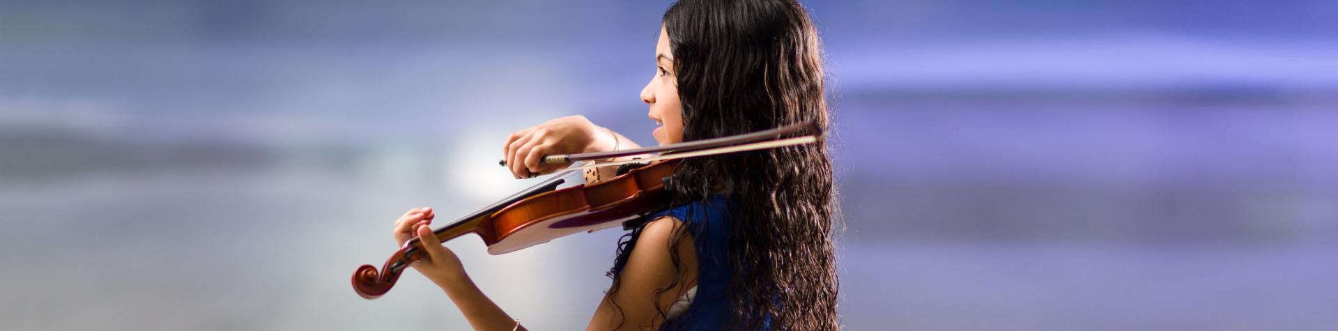 Why Study Music? Girl playing the violin