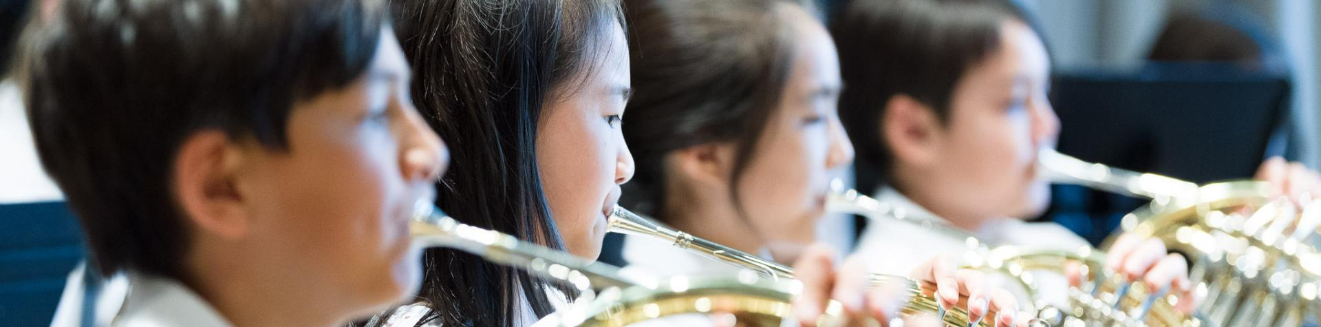 Band Program - French horn students