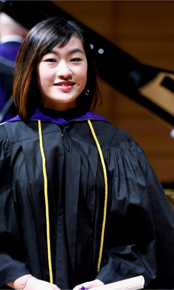 Coco Ma onstage at Koerner Hall at Convocation