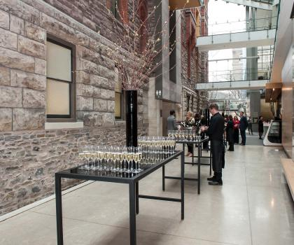 The Atrium and the Michael and Sonja Koerner Early Instrument Collection