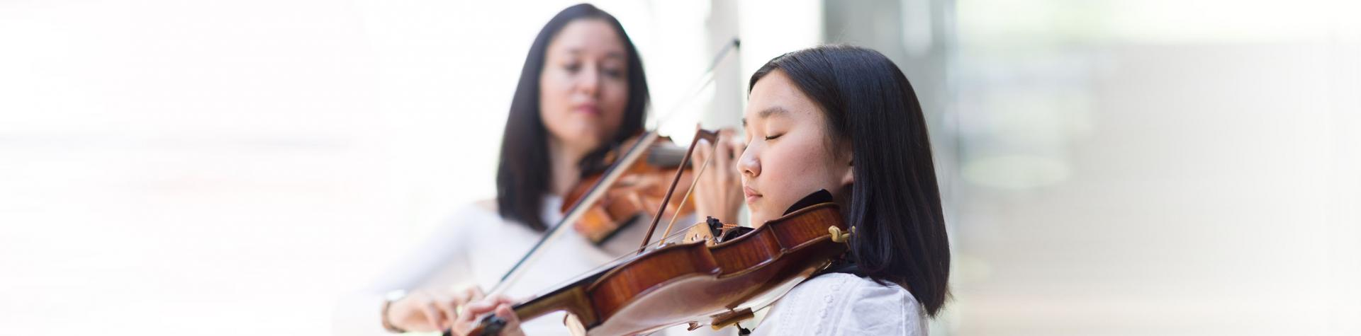 News - violin student and teacher
